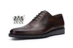 新しいデザインおよび高品質の普及した人のLace-up革ビジネス歩きやすい偶然の靴