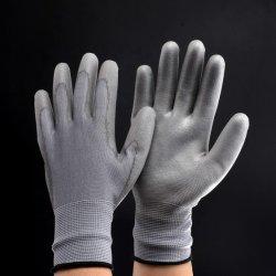 PU покрытием черного цвета Установите противоскользящие Anti-Static Palm перчатки тонкие раздел толстых окунув работу нейлоновые промышленных надевайте защитные перчатки