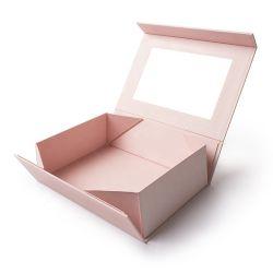 Personalizable bella y útil Regalo de caja de joyas de Papel Caja de papel con cinta