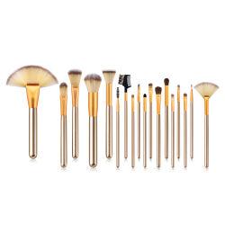 Cosmétique professionnel Premium composent les brosses pour la superposition de la Fondation Blush Concealer Shader OMBRE À PAUPIÈRES EYELINER avec Voyage Sac de maquillage