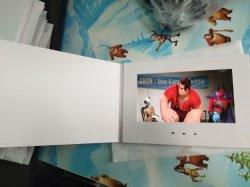 Folletos de vídeo barata en blanco Delgado Libro Reproductor de Vídeo LCD