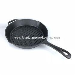 12 インチの家の台所屋外の調理器具円形の鋳鉄のスキレット フライパン