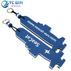 La Chine cadeau promotionnel personnalisé d'aéronefs en mousse EVA flottant Télécommande Fashion sac en plastique mou de chaîne de clé Logo Cool porte-clés pour le commerce de gros (EK02-C)