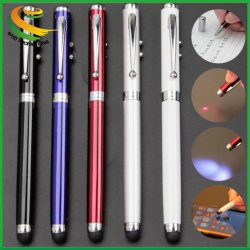 4-in-1-Multifunktions-Laserpointer, LED-Led-Led-Led-Metall-Touch-Stylus