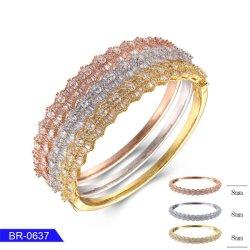 Оптовая торговля нового дизайна моды женские украшения 925 серебристые модный кубических обедненной смеси Bangle