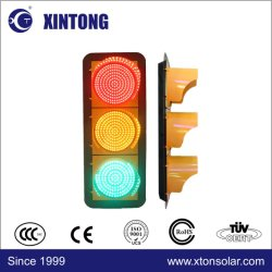 Xintong rotes grünes gelbes volles Verkehrszeichen-Licht der Kugel-LED mit Haltern