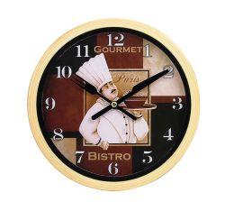 7,6-дюймовый маленький круглый желтый кухня пластиковые Quartz Настенные часы