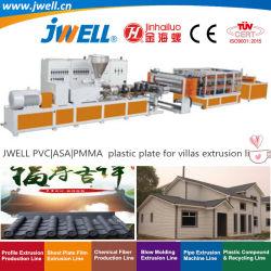Jwell - ПВХ ASA|PMMA пластмассы смолы Syntheitc плиткой переработки сельскохозяйственных решений экструзии машины для строительства виллы в сельской местности с небольшой вес