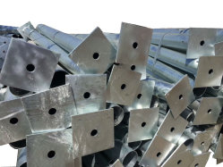 Chaud en acier Galavanized DIP Corps principal cadre de l'effet de serre Poly-Carbonate