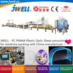 Jwell - PC|PMMA optique en plastique feuille Making Machine agricole de recyclage de l'extrusion pour la médecine de l'emballage avec la Chine fabricant et un bon prix