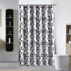 100% полиэстер водонепроницаемая печать душ шторки