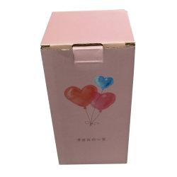 Verrouillage automatique du papier recyclé bas Logo personnalisé Kraft Boîte en carton ondulé
