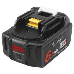 Bl1860b-2 18V 6.0ah сменный аккумулятор совместим с Makita Bl1830 Bl1840 Bl1850 Bl1860 Bl1860b Lxt литий-ионный аккумулятор инструменты со светодиодным индикатором