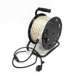 25m Piscina Marcação Certs Fita LED SMD luz 2835 no tambor 3000K branco quente 180 LEDs por metro de PI65 230V AC 12W / m com ficha eléctrica
