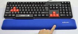 وسادة إسفنجية مريحة مزودة بذاكرة ولوحة مفاتيح مزودة بزر الماوس على لوحة المفاتيح