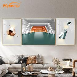 La mejor calidad de diseño de obras de arte abstracto moderno pintura para Salon Decoration