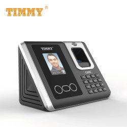 Palm Excle de huellas digitales biométrico de reconocimiento facial de informe de la máquina del tiempo la asistencia