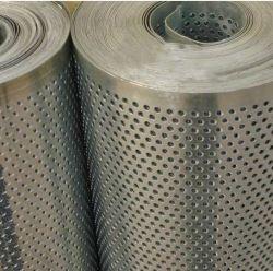 Aço inoxidável Bobina de malha de metal perfurada