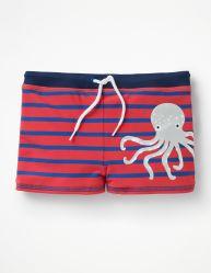 男の子の対照の固体ベルトのジャージーの対照のストリングおよびコードが付いているタコによって縞で飾られる印刷の水泳パンツまたは不足分の子供の水着