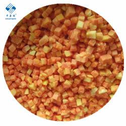 Fruta congelada congelado IQF Papaya dados
