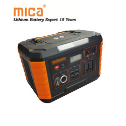 500W de puissance mobile à l'extérieur Monophasé 220V AC UPS onde sinusoïdale de l'énergie Portable Storage Power