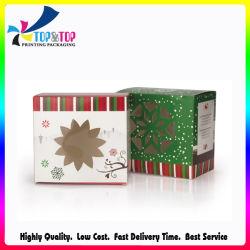 カスタム安いクリスマスのギフトのペーパー包装の折るウィンドウ・ボックスの卸売