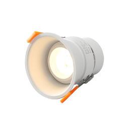Agujero abierto 95mm 10W 110V 220V Home profunda Anti deslumbramiento fino borde ultra delgado de techo LED incorporado luz tenue