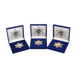 금관 악기 각인은 고품질 및 선물 품목을%s 가진 주물 아연 합금 경찰 기장을 정지한다
