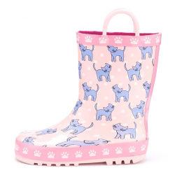 أحذية رينيه مطّلقة مقاومة للماء جميلة ومطبوعة من Cat مع مقابض للأطفال الذين لا يهزّبون حذاء المطر