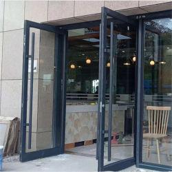 سعر جيد إطار ألومنيوم المتجر أبواب أمامية مزدوجة الزجاج الألومنيوم الباب الفرنسي الكازف