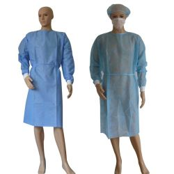 Schützende Klage-Wegwerfsterilisation-chirurgisches/medizinisches Kleider nichtgewebtes Suitgown Lokalisierungs-Kleid-anerkannte schützende Produkte
