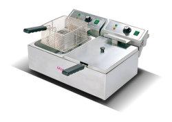 Depósito Duplo fritadeira eléctrica Frigideira profunda máquina de fritura de frango Chips