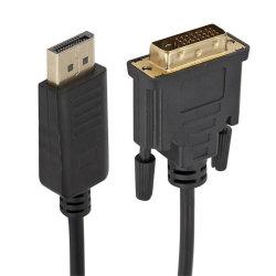 黒はHDMIの表示ケーブルに単方向DVI - 6フィートを形成した