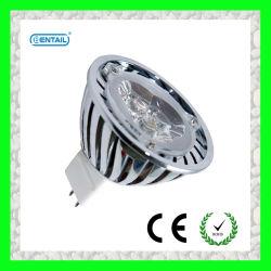 MR16، 3 واط، مؤشر LED عالي القدرة مع هيكل من الألومنيوم الداكن