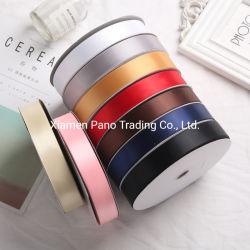 Effen 196 kleuren 100% polyester 25mm satijnglans lint 100 yard Voor cadeauverpakking