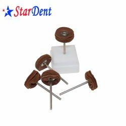 Dental Lab Material Polishing Deer Skin Wheel Dentistry Grinder da laboratorio Spazzole rettifica dentista spazzola piatta a bassa velocità tutti i materiali