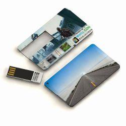 Super Mini USB da unidade do cartão de crédito com deslize Casco & 3mm de espessura (UF273)