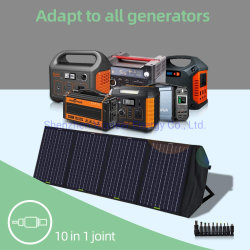 60W de alta potencia 80W 100W Cargador solar portátil Bolsa plegado