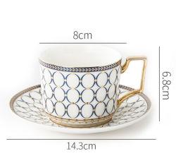 Tarde em cerâmica beber café xícara de chá de batata e conjuntos de disco voador