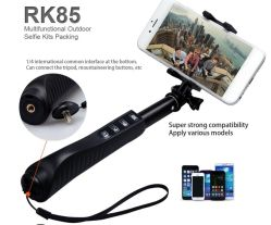 Mini Wireless Bluetooth Selfie monopie Stick con la cámara monopie Zoom (OM-RK85)