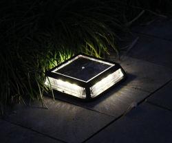 태양 지하 빛, 지상 차도 보도 선창 빛 뒤뜰 안뜰 정원, 자동 온/오프를 위한 태양 강화된 옥외 층계 단계 통로 LED 램프
