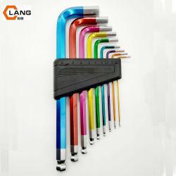 Il colore all'ingrosso di 7PCS 9PCS 1.5-10mm ha ricoperto l'insieme di tasto Hex