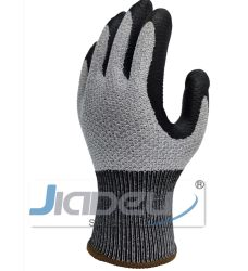 B. La resistencia de corte de diseño de patentes de peine de guantes de seguridad con recubrimiento de nitrilo de espuma