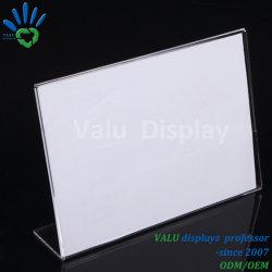 Effacer un bureau en plastique de plexiglas4 Affichage du menu de support d'enseigne en acrylique