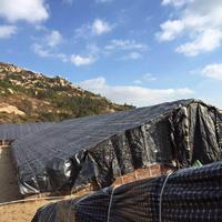 Reforzado con tejido de rejilla Negro/Blanco película / Waterproof Shade Net para la Agricultura de setas Hongos Comestibles / Animal House
