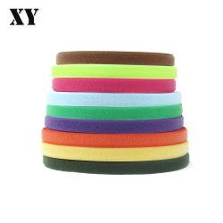 1 pouce de 2 pouces de 3 pouces couleur noir et blanc à crochet et boucle pour vêtement de bandes de Velcro Strape