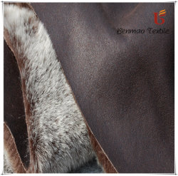 Polyester Suede Fabric Bonded Fake Fur for Winter Garment/Warmth Garment