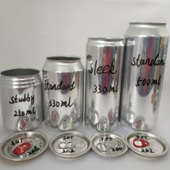Custom 250ml 330ml 355ml 473 Ml 500 Ml Lattine vuote di birra in alluminio
