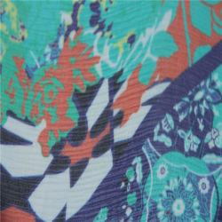 Material de vestido de Design de Moda 8mm anilha ondulada Georgette seda