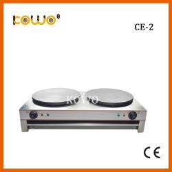軽食装置のカウンタートップの熱い版の見開き図版の電気40直径Cmのクレープのパンケーキメーカー
